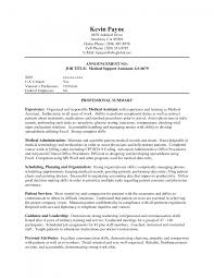 cover letter how to write a resume for medical assistant how to cover letter medical assistant skills picture gallery of sample medical sle professional summary for resume job