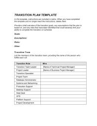 transition plan templates career individual template lab transition plan template 05