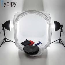 Tycipy <b>80</b>*<b>80</b>*<b>80 LED Photo Studio</b> Softbox Folding light Box 60W ...