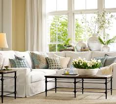 barn living room ideas decorate:  living room pb parquet rectangular coffee table sectional sofas sectionals sectional couches pottery barn pottery