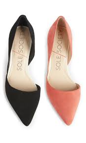 Suede mid heel <b>d'Orsay</b> pumps with a pointed toe, perfect for office ...