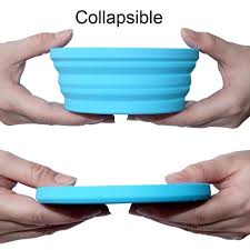 350 мл Складная Силиконовая миска, 4 цвета, <b>складная миска</b> ...