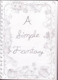sketch book title page by a simple fantasy on sketch book title page by a simple fantasy