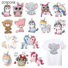 <b>ZOTOONE</b> Cute Animal <b>Stripes</b> Patches <b>Set</b> Iron on Transfer ...