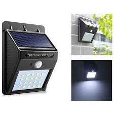 Light Guard <b>8 LED Solar</b> Powered Motion Activated Wall Night ...