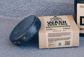 manly essentials for smelling good while traveling thither the soap bar looks a bit like a hockey puck it s half used in
