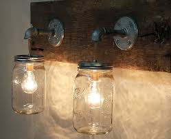 funky bathroom lights: bathroom amazing various smooth rustic bathroom light fixtures