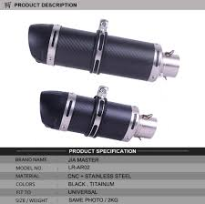 <b>E Mark Universal Motorcycle Real</b> Carbon Fiber Slip On Exhaust ...