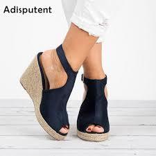 Adisputent Open Toe Platform Heel Sandals <b>Women Shoes 2019</b> ...