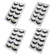 Buy <b>SHIDISHANGPIN mink</b> false eyelashes 5 <b>pairs</b> with natural ...