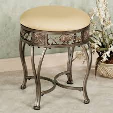 inspiration bathroom vanity chairs: upholstered tufted backless bathroom vanity simple wood backless