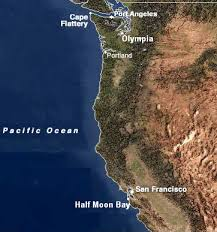 Image result for chart of pacific from strait of juan de fuca to california