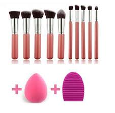 KYLIE <b>Makeup</b> Brushes Set Premium Synthetic Kabuki <b>Foundation</b> ...