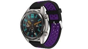 Черно-фиолетовый силиконовый <b>перфорированный ремешок</b> ...