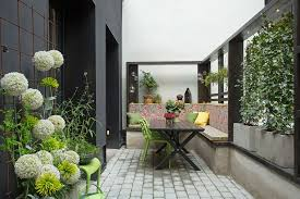 beautiful patio with green plants decor and outdoor patio furniture decor apartment patio furniture