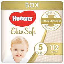 <b>Huggies подгузники Elite</b> Soft 5 (12-22 кг) 112 шт. — купить по ...