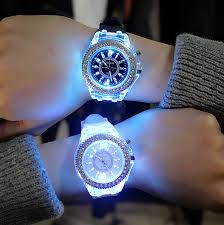 <b>led Flash Luminous Watch</b> Personality trends students lovers jellies ...