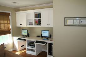 custom made painted home office for kids built in home office cabinets