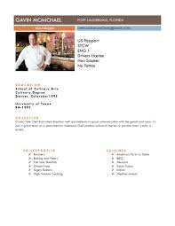 chef resume samples resume  tomorrowworld cochef gavin resume july page    chef resume