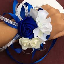 <b>10pcs lot high quality handmade</b> tiffany blue wedding wrist flower