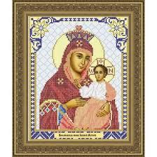 <b>Основа для вышивания с</b> нанесённым рисунком «Икона Божией ...