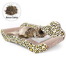 2 Pieces 2 in 1 Cat Scratching <b>Pad Reversible</b> Carboard Kitten ...