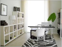 cool home office design idea with black white table green plant chairs and yard design black white home office study