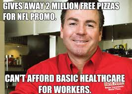 Papa Johns to raise cost of each pizza because of ObamaCare - Page ... via Relatably.com