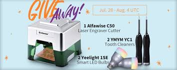 Giveaway: an Alfawise C50 Smart Laser Engraver Cutter, 2 Yeelight ...