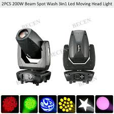 <b>2pcs</b>/<b>lot</b> Zoom 200W Spot/Wash/Beam <b>3in1 Led</b> Moving Head Light ...
