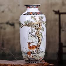 Jingdezhen <b>Ceramic Vase</b> Vintage <b>Chinese Style</b> Animal <b>Vase</b> Fine ...