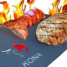 Kona Best BBQ <b>Grill Mat</b> - Heavy Duty 600 Degree <b>Non</b>-<b>Stick</b> Mats