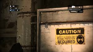 Gear of War Judgment <b>Gas Mask Easter</b> Egg on Rig - YouTube