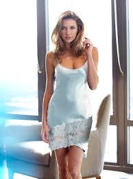 Julianna Rae <b>Women's</b> 100% Silk Tresor <b>Delice</b> Chemise, Lace Trim
