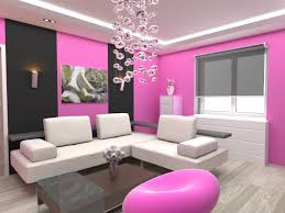captivating simple living room design with pink color schemes furnished with white sectional sofa and transparent glass table also beautiful pendant lamp beautiful simple living