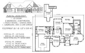 bedrooms  ½ story     square feet   Story  Bedroom  Bathroom  Dining Area  Family Room  Game Room  Car Garage  Square Feet House Plan