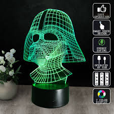 Star Wars 3D Visual Night Light LED Desk Battery powered Lamps ...