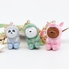 <b>Cartoon Anime</b> We Bare <b>Bears Cute</b> Doll Keychains Bag Pendant ...