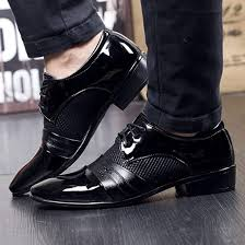 Mens Business Shoes Dress, Derby <b>Pointed Toe Lace</b> up Leather ...