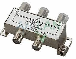 REXANT 05-6003 <b>ДЕЛИТЕЛЬ ТВ</b> х <b>4</b> под F разъём 5-1000 МГц ...