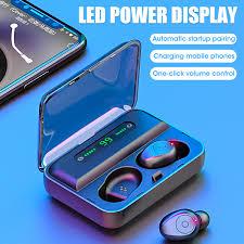 <b>TWS Bluetooth Earphone V5.0</b> Stereo Mini Wireless Earbuds LED ...