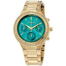 Buy <b>Caravelle New York</b> Women's 44L215 Swarovski Crystal Gold ...
