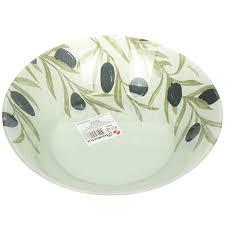 <b>Тарелка суповая стеклянная</b>, 220 мм, Олива 10335SLBD35 ...