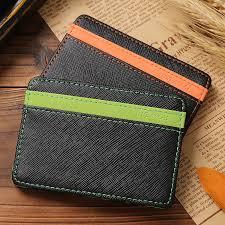 Mens <b>PU Leather Wallet</b> Credit Carder Holder Bifold Purse Korean ...