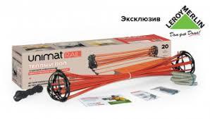 Стержневой <b>теплый пол UNIMAT</b> RAIL 130 Вт/м2, 3 пог/м