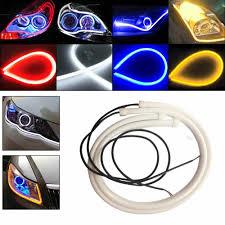 New <b>2Pcs</b> 45cm/<b>60cm</b> Flexible Car Soft Tube LED Strip Light Angel ...