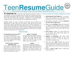 teen resume info how to write example of resume tutorial how to make