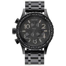 Купить кварцевые <b>часы</b> женские <b>Nixon 38-20</b> Chrono All Black ...