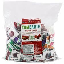 YumEarth <b>Organic Pops Assorted Fruits</b> Flavors 300 Pops 5 lbs 2268 g