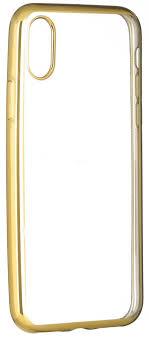 <b>Клип</b>-<b>кейс Oxy Fashion MetallPlated</b> для Apple iPhone X golden ...